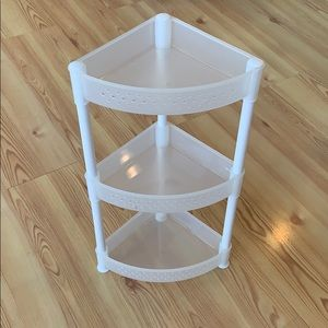 Other - White and Clear Plastic Three tiered organizer